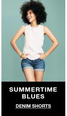 Summertime Blues, Denim Shorts
