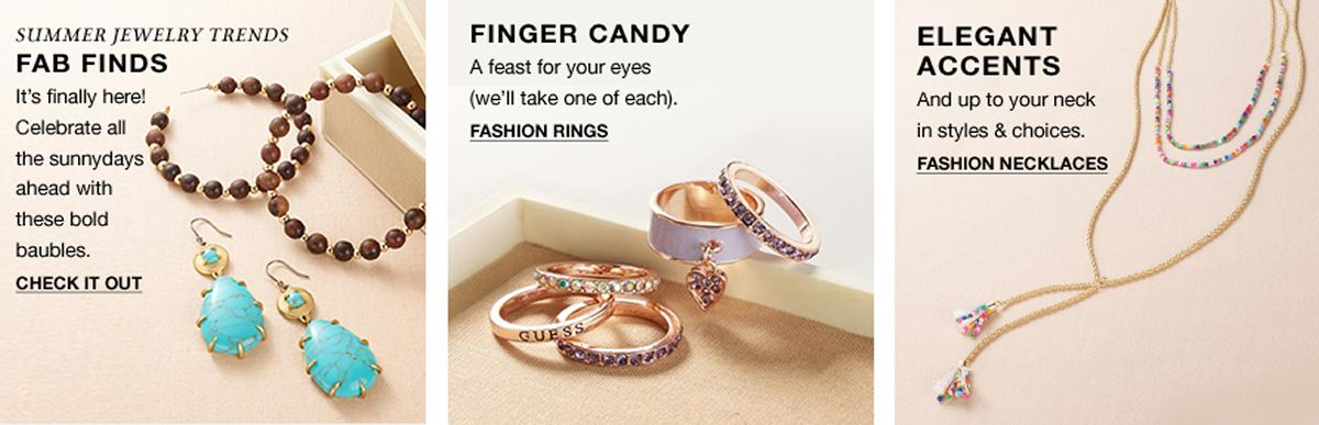 Fab Finds Check it Out, Finger Candy Fashion Rings, Elegant Accents, Fashion Necklaces