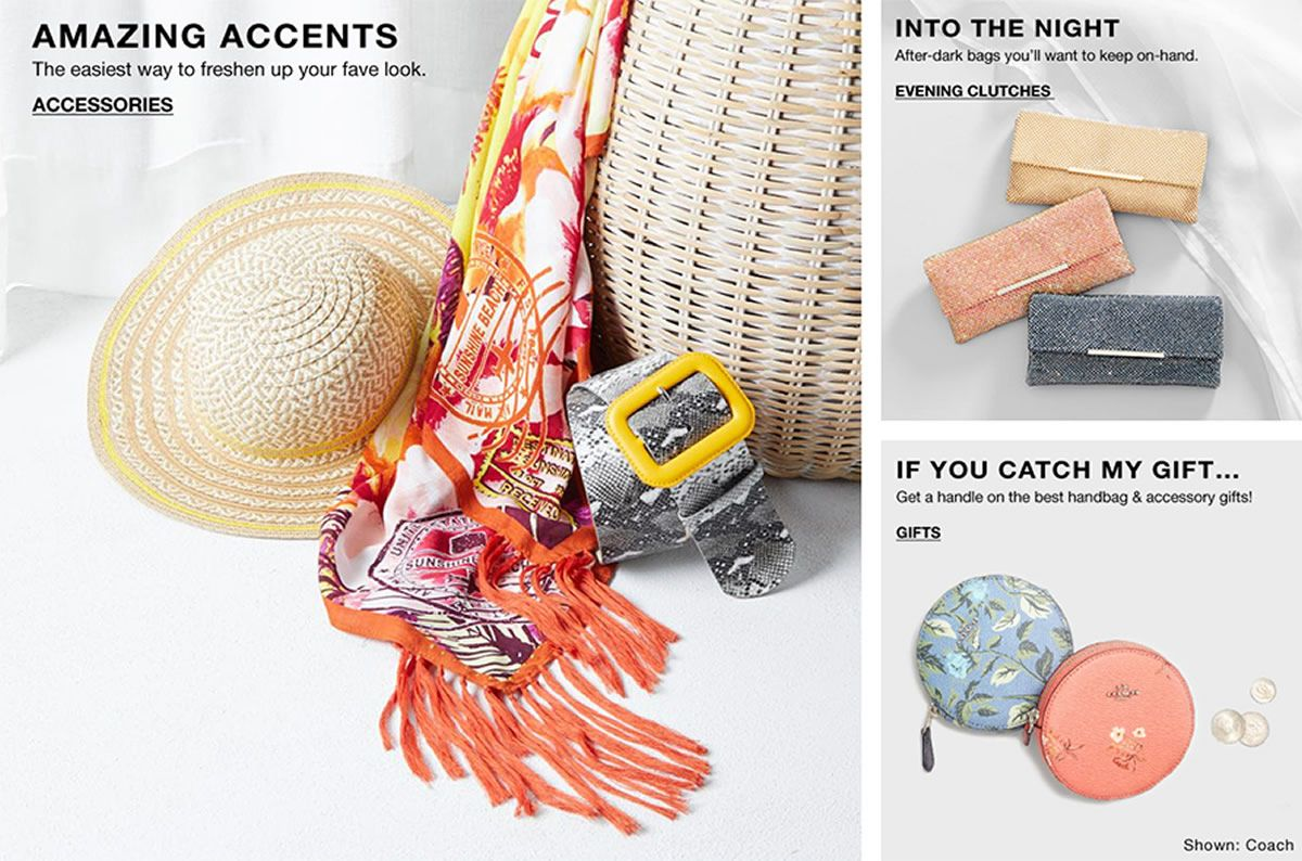 Amazing Accents, Accessories, Into The Night, Evening Clutches, If You Catch my Gift, Gifts