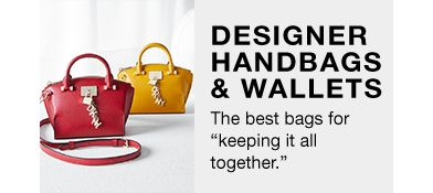 "Designer Handbags and Wallets, The best bags for ""keeping it all together"""