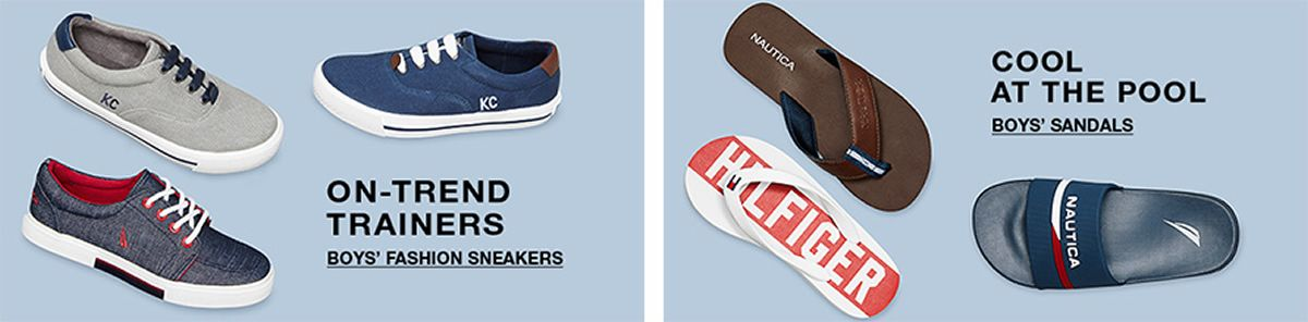 On-Trend Trainers, Boy's Fashion Sneakers, Cool at The Pool, Boy's Sandals