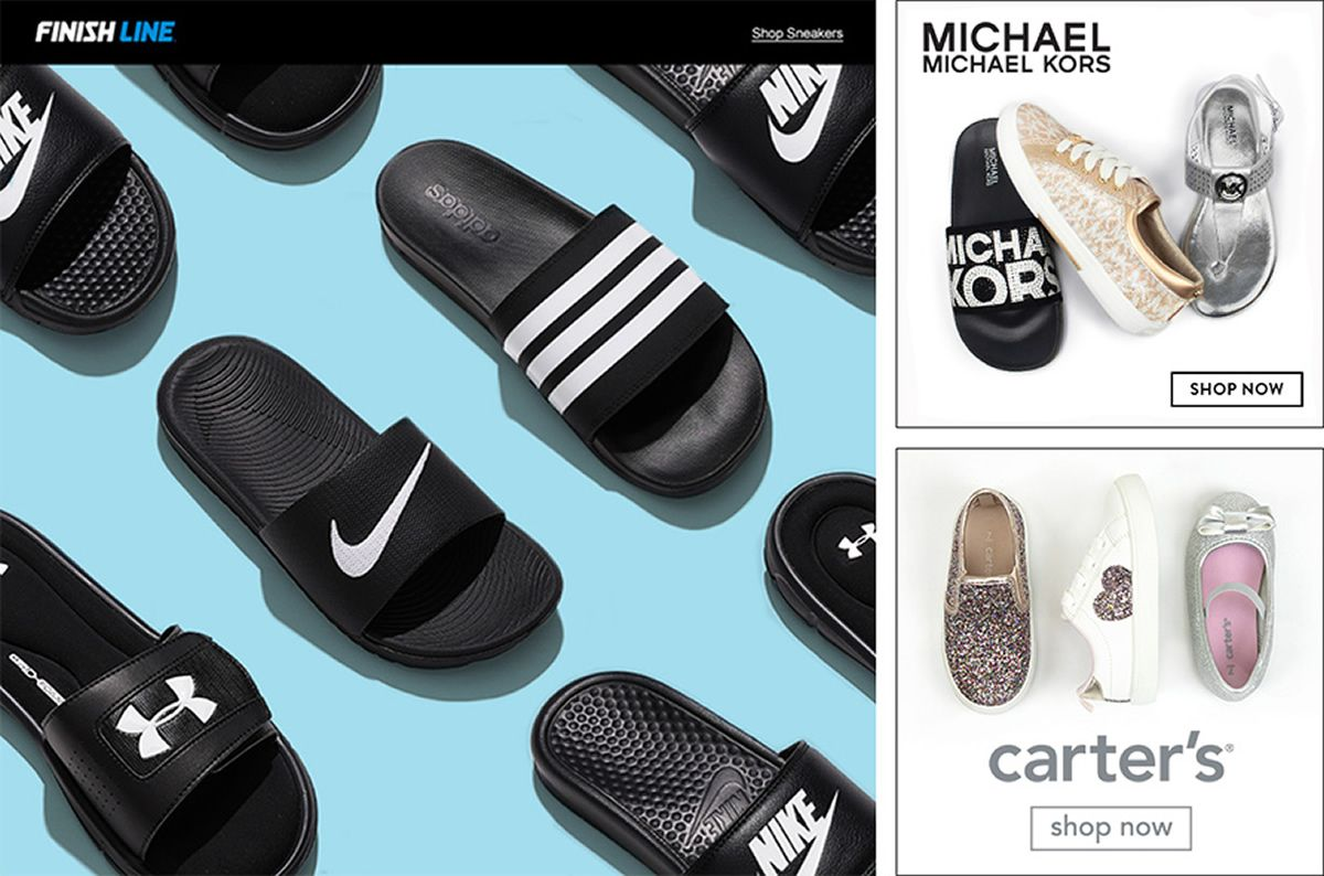 Finish Line, Michael, Michael Kors, Shop Now, Carter's Shop Now