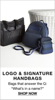 aa972e910d6 Logo and Signature Handbags, Bags that answer the Q: