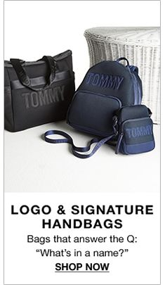 "Logo and Signature Handbags, Bags that answer the Q: ""What's in a name?"" Shop Now"