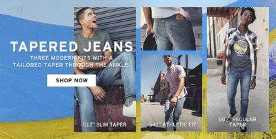Tapered Jeans, Three Modern Fits with a Tailored Taper Through The Ankle, Shop Now