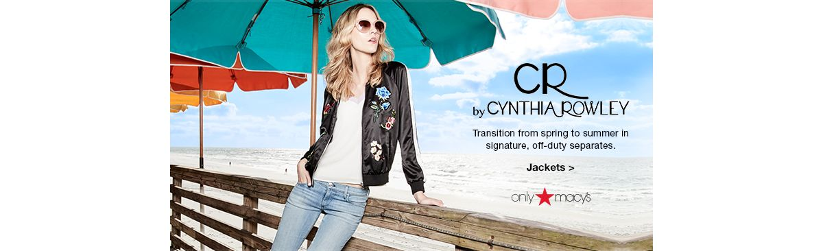 By Cynthia Rowley, Transition from spring to summer in signature, off-duty separates, Jackets