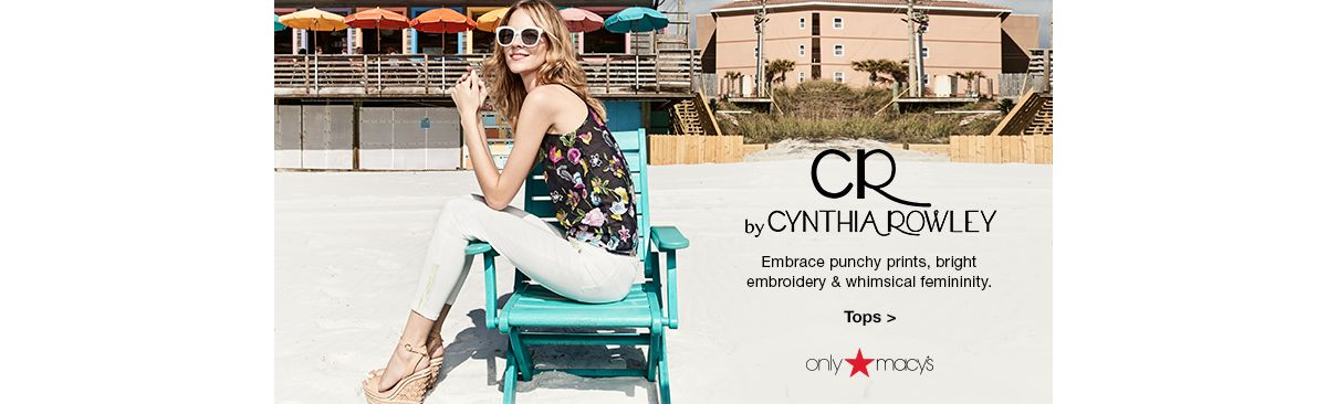 By Cynthia Rowley, Embrace punchy prints, bright embroidery and whimsical femininity, Tops