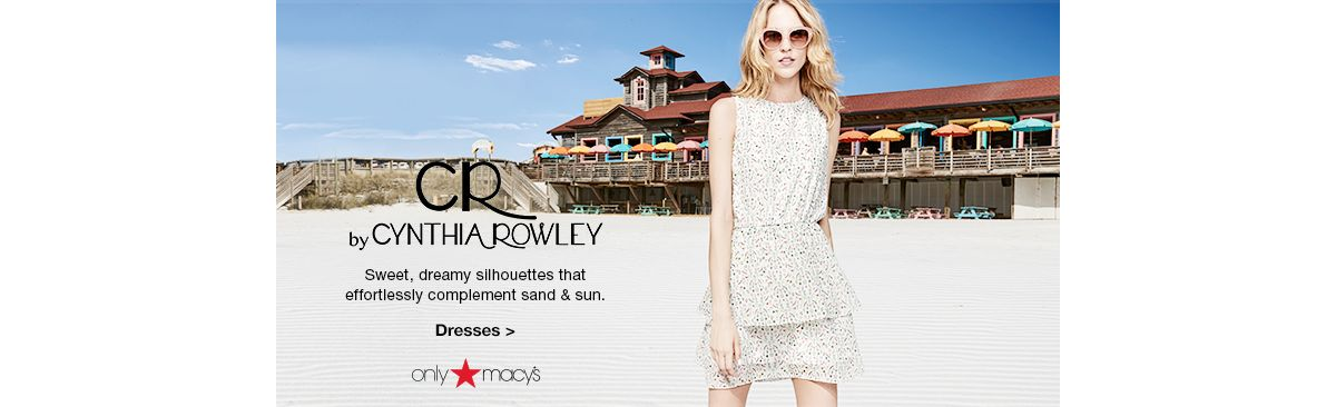 By Cynthia Rowley, Sweet, dreamy silhouettes that effortlessly complement sand and Sun, Dresses