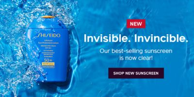 New Invisible, Invincible, Our best selling sunscreen is now clear! Shop New Sunscreen