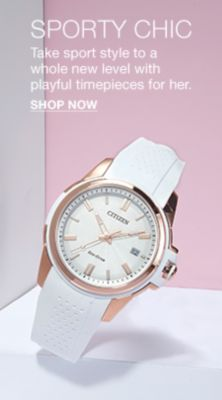 Sporty Chic, Take sport style to a whole new level with playful timepieces for her, Shop Now
