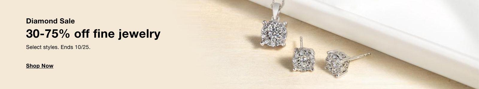 Diamond Sale, 30-75% off fine jewelry Shop Now