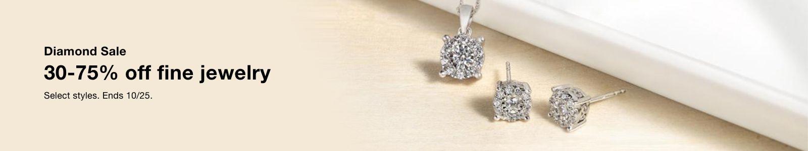 Diamond Sale, 30-75% off fine jewelry