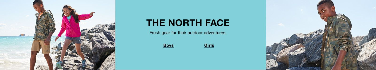 The North Face, Fresh gear for their outdoor adventures, Boys, Girls