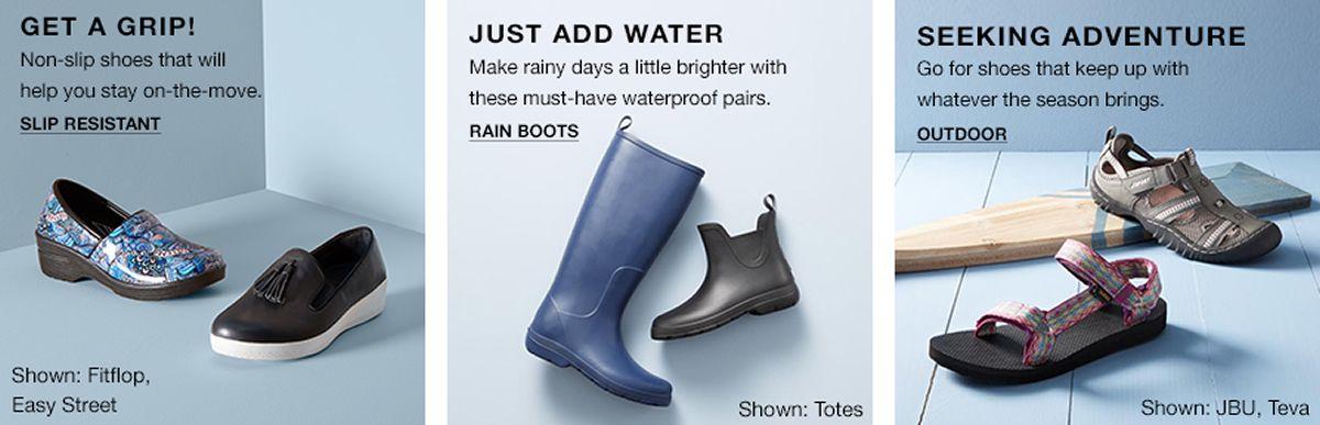 Get A Grip, Slip Resistance, Just Add Water, Rain Boots, Seeking Adventure, Outdoor