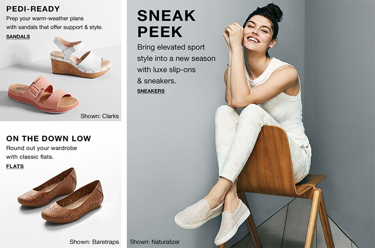 Pedi-Ready, Sandals, On The Down Low, Flats, Sneak Peek, Sneakers