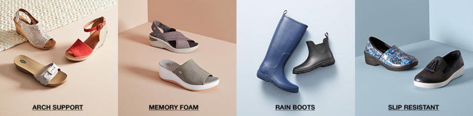 8cd859c9a8f46 Arch Support, Memory Foam, Rain Boots, Slip Resistant