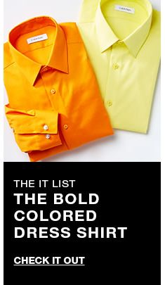 The it list, The Bold Colored Dress Shirt, Check it Out