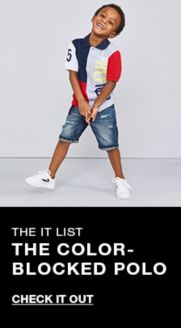 d3d77a41 The it list, The Color-Blocked Polo, Check it Out. Tommy Hilfiger Big Boys  Abstract Textured Logo T-Shirt