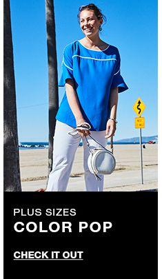 Plus Sizes, Color Pop, Check it Out