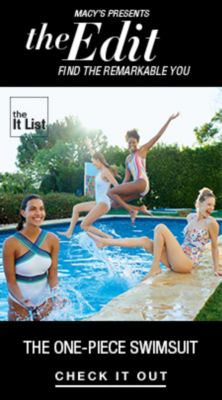 Macy's Presents, The Edit, Find The Remarkable You, The One-Piece Swimsuit, Check it Out