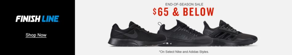 best website ad2fc 083d6 Finish Line, Shop Now, End-of-Season Sale,  65 and Below