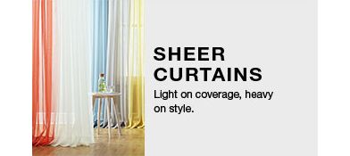 Sheer Curtains Light On Coverage Heavy Style