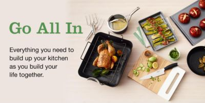 Go All in, Everything you need to build up your kitchen as you build your life together