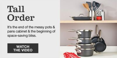 Tall Order, It's the end of the messy pots and pans cabinet and the beginning of space-saving bliss, Watch the Video
