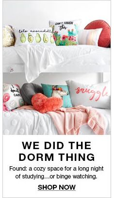 We Did The Dorm Thing, Found: a cozy space for a long night of studying… or binge watching, Shop Now