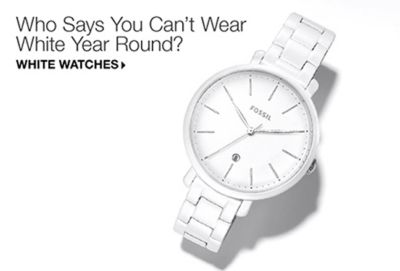 Who Says You Can't Wear White Year Round? White Watches