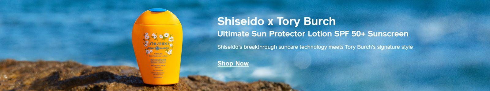 Shiseido x Tory Bunch, Ultimate Sun Protector Lotion SPF 50+ Sunscreen