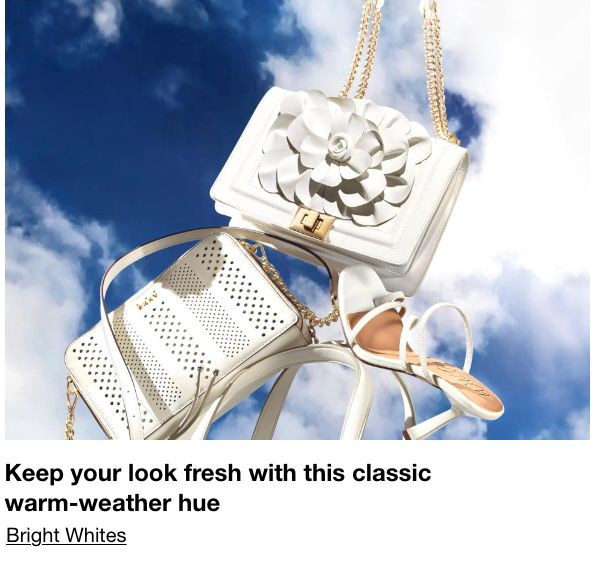 Keep your look fresh with this classic warm-weather hue