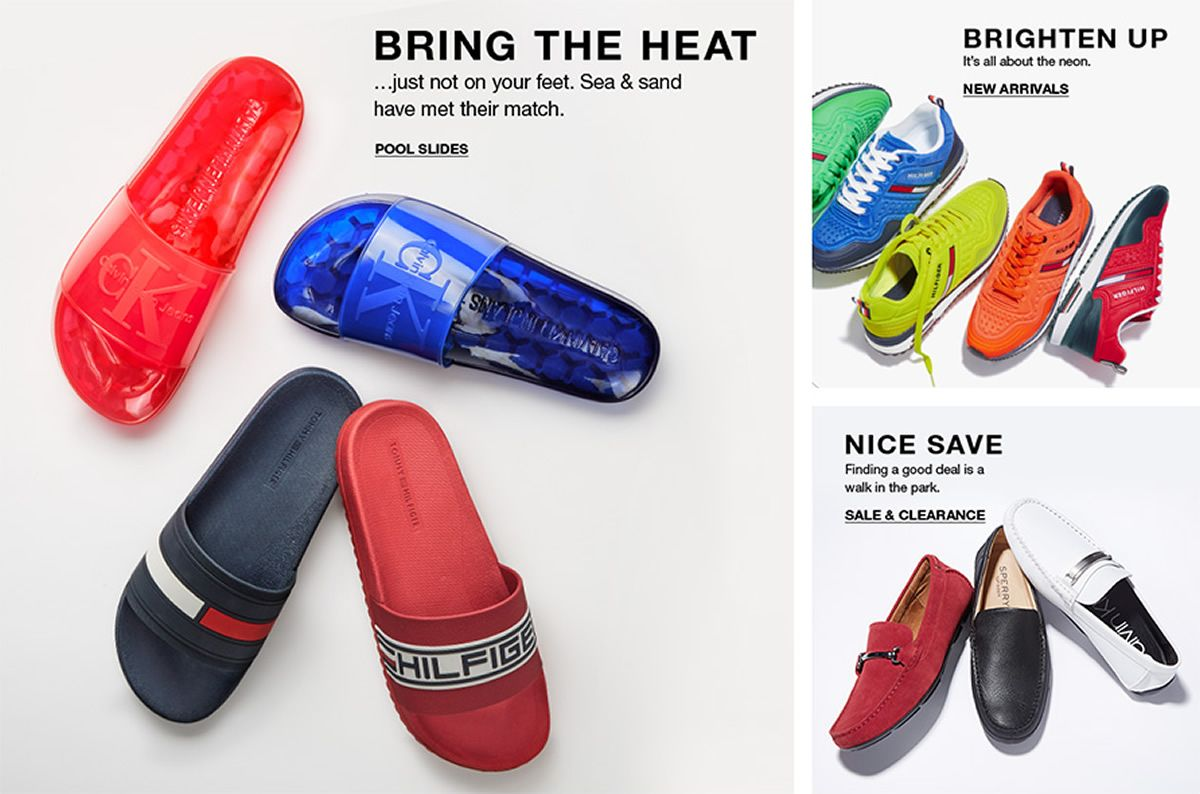 Bring The Heat,Pool Slides, Brighten up, New Arrivals, Nice Save, Sale and Clearance