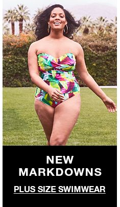 New Markdowns, Plus Size Swimwear