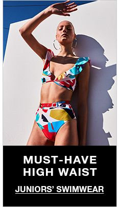 Must-Have High Waist, Juniors' Swimwear