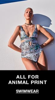 bfdc431317c265 All For Animal Print, Swimwear