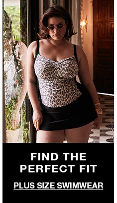 Find The Perfect Fit, Plus Size Swimwear