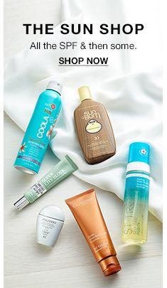The Sun Shop, All the Spf and then some, Shop Now