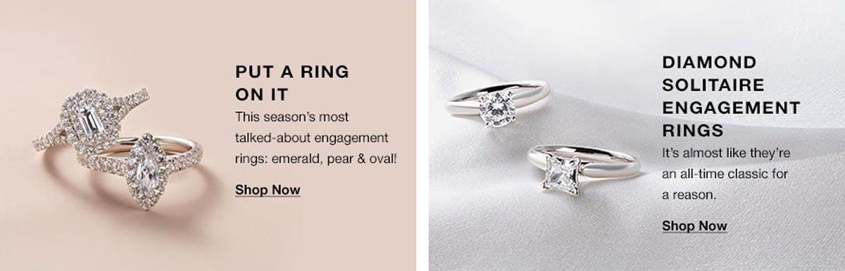 Put a Ring, Shop Now, Dimond Solitaire Engagement Ring, Shop Now