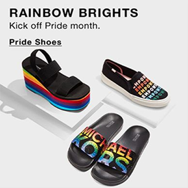 Rainbow Brights, Kick Off Pride month, Pride Shoes