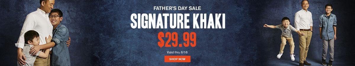Father's Day Sale, Signature Khaki, $29.99, Shop Now