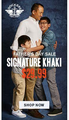 Dockers, Father's Day Sale, Signature Khaki, $29.99, Shop Now