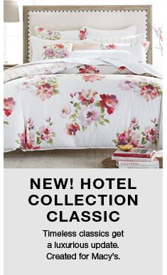 New! Hotel Collection Classic, Time classic get a luxurious update Created for Macy's