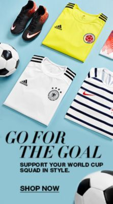 Go For The Goal, Support Your World cup Squad in Style, Shop Now