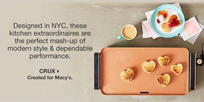 Designed in NYC, these kitchen extraordinaires are the perfect mash-up of modern style and dependable performance, Crux, Created for Macy's