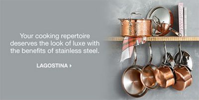 Your cooking repertoire deserves the look of luxe with the benefits of stainless steel, Lagostina