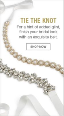 Tie The Knot, For a hint of added glint, finish your bridal look with an exquiste belt, Shop Now