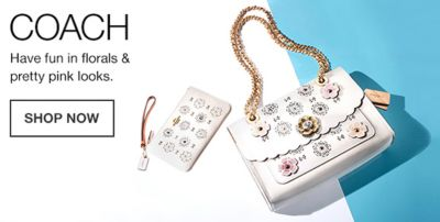 Coach, Have fun in florals and pretty pink looks, Shop Now