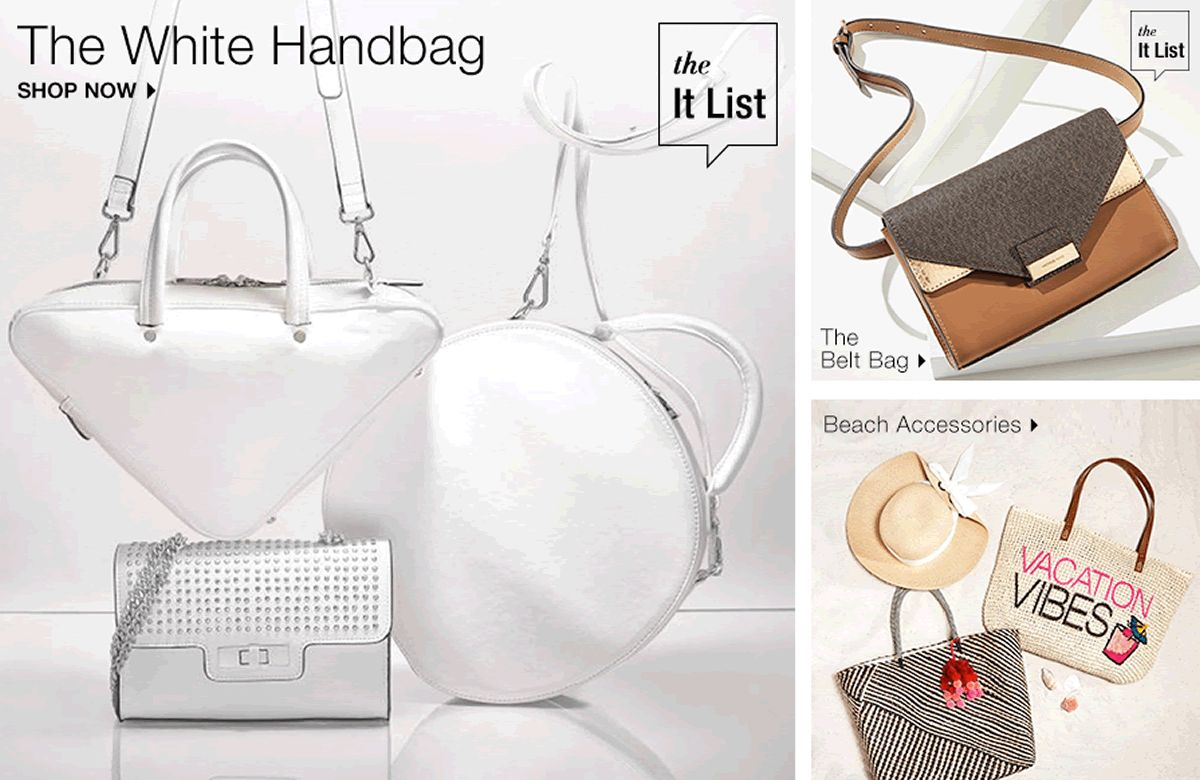 The White Handbag Now It List