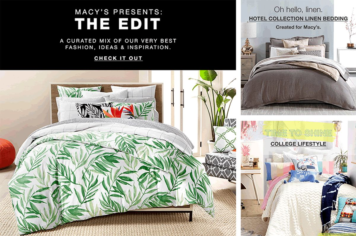 Macys Presents The Edit A Curated Mix Of Our Very Best Fashion Ideas Hotel Collection Shop